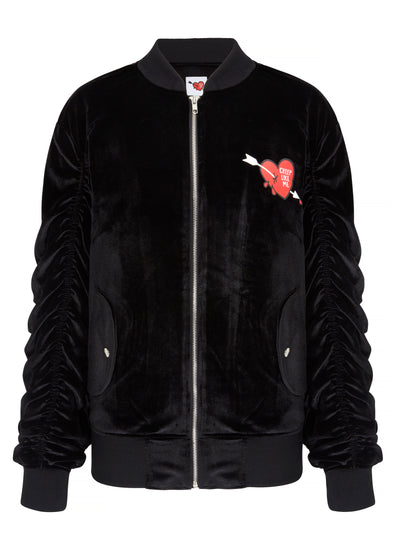 Bad Girls Club Velour Bomber