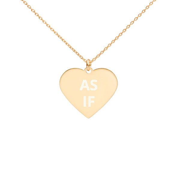 As If Engraved Heart Necklace