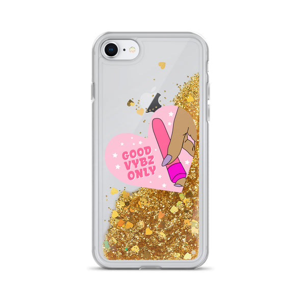 Good Vybz Only Liquid Glitter Phone Case
