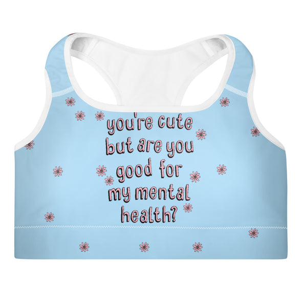 Mental Health Padded Sports Bra