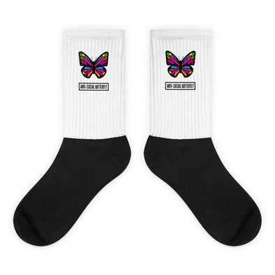 Anti-Social Butterfly Socks