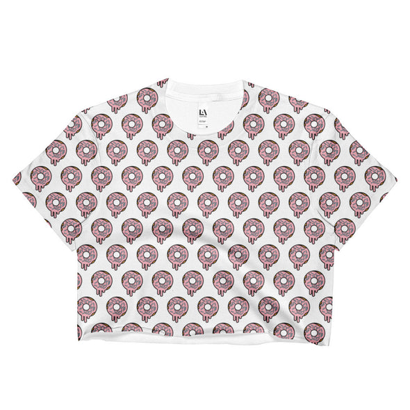 Doughnut Print Crop Top
