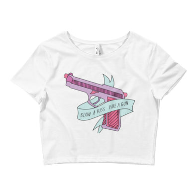 Blow A Kiss Fire A Gun Crop Top