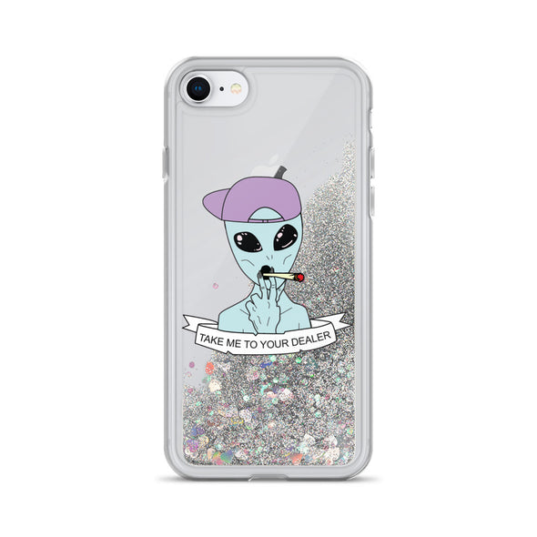 Take Me To Your Dealer Liquid Glitter Phone Case