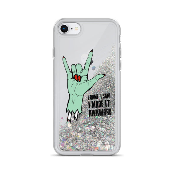Awkward Liquid Glitter Phone Case