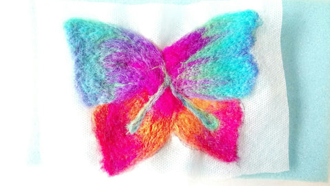 Needle felt butterfly tutorial Water soluble Paper
