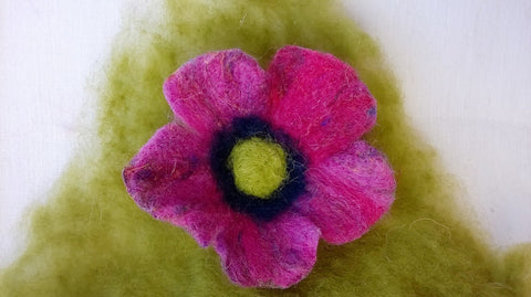 Needle Felt Flower Tutorial The Makerss