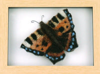 Small Tortoiseshell Butterfly Needle Felt Pack with Picture Frame