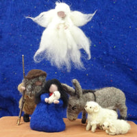 Nativity Kit - makes Mary & Joseph, Baby Jesus, donkey, sheep & lamb and angel