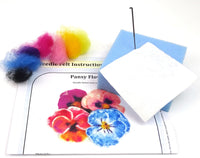 Pansy Flower Stab-Along Pack with tools - makes 1 pretty pansy flower