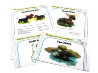 Bundle 2 - Dachshund Trio, Large Fawn, Sea Otter, Sloth Family Instructions Hard Copies