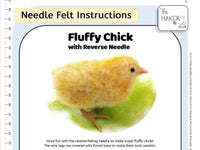 Fluffy Chick with Reverse Needle Instructions PDF