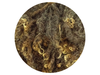 Bluefaced Leicester Curls - dark brown and light brown small curls 12g