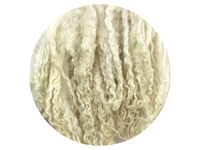 Bluefaced Leicester Curls - creamy white small curls 12g