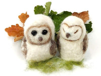 Baby Barn Owl Needle Felt Kit - makes 4 cute baby barn owls