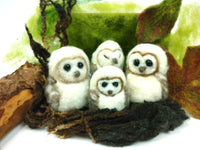 Baby Barn Owls Needle Felt Kit - makes 4 cute baby barn owls