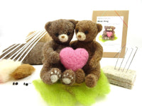 Bear Hug Needle Felt Kit - a kit for caring and sharing