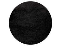 Black Dyed New Zealand Merino carded wool batts - various weights