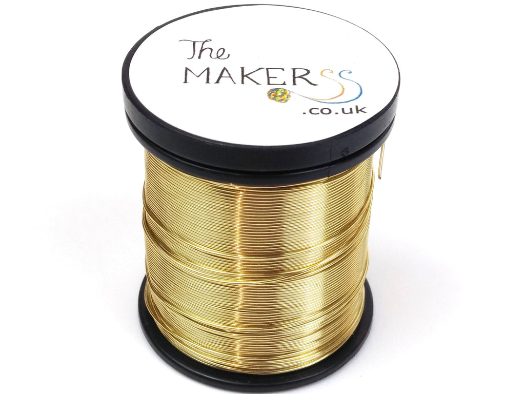 Thin Copper Wire 0.5 mm (24 gauge) - Gold