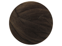 Dark Brown Variegated Natural Wool Tops - South American Merino - various weights