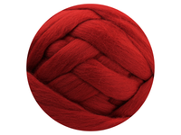 Deep Red Tops - dyed South American Merino - various weights