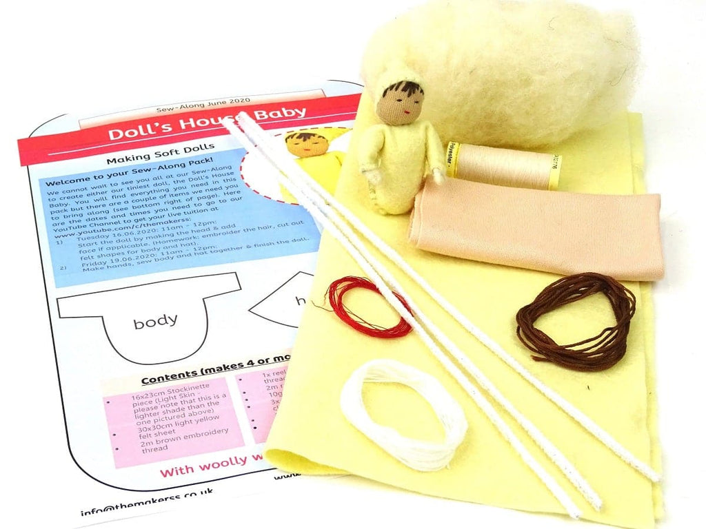 Doll's House Baby Sew-Along Pack - with or without book - no tools!