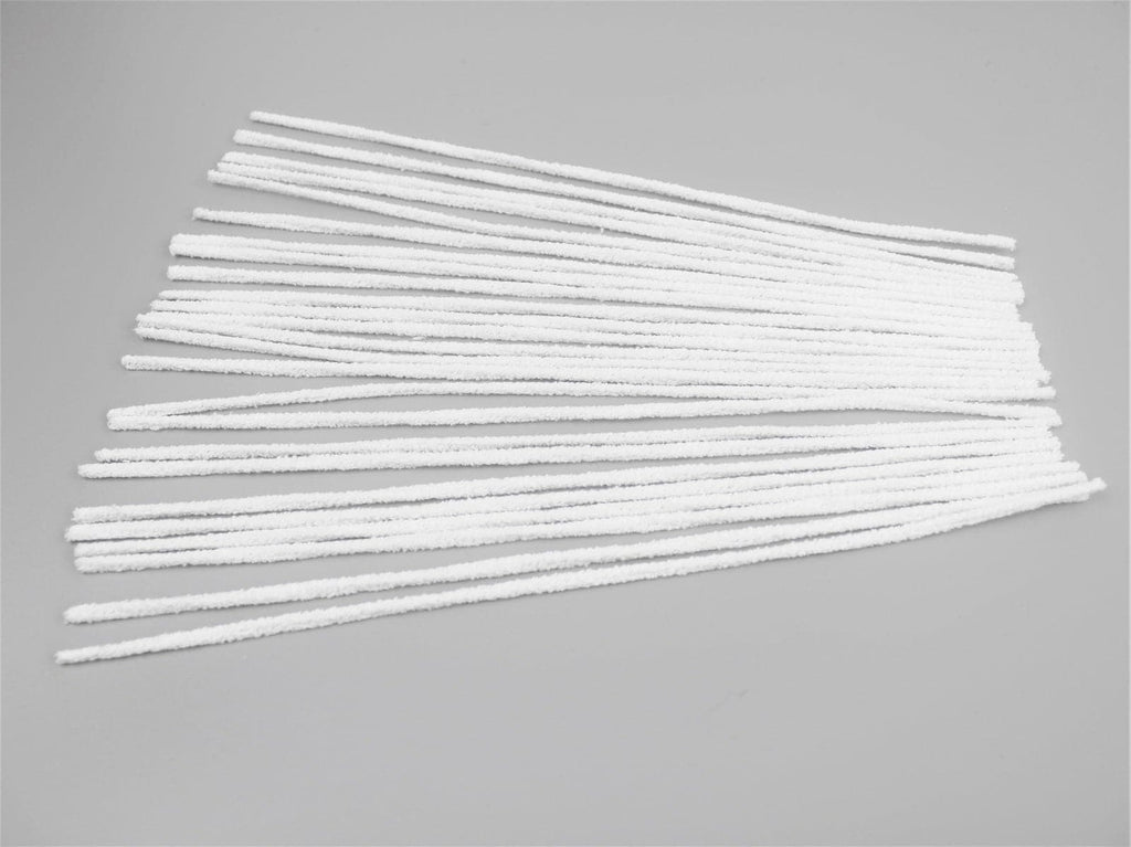 White Extra Strong Pipe Cleaners - ideal for needle felt wire armatures