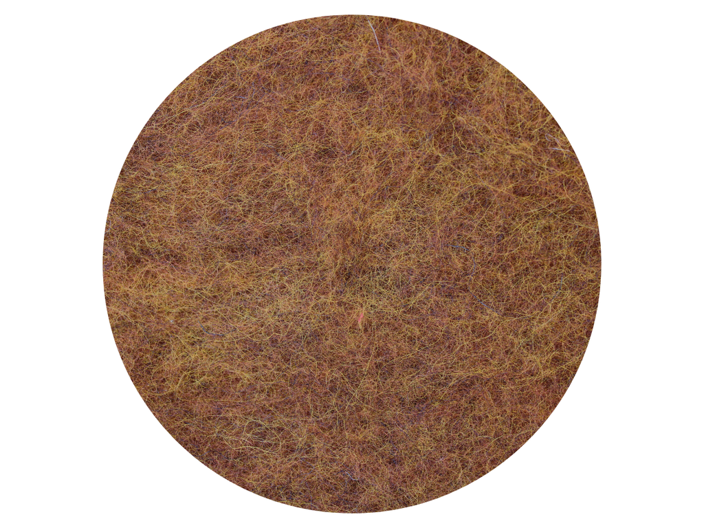 Fox Rust Brown Variegated - dyed New Zealand Merino & natural Stone Sheep carded wool batts - various weights