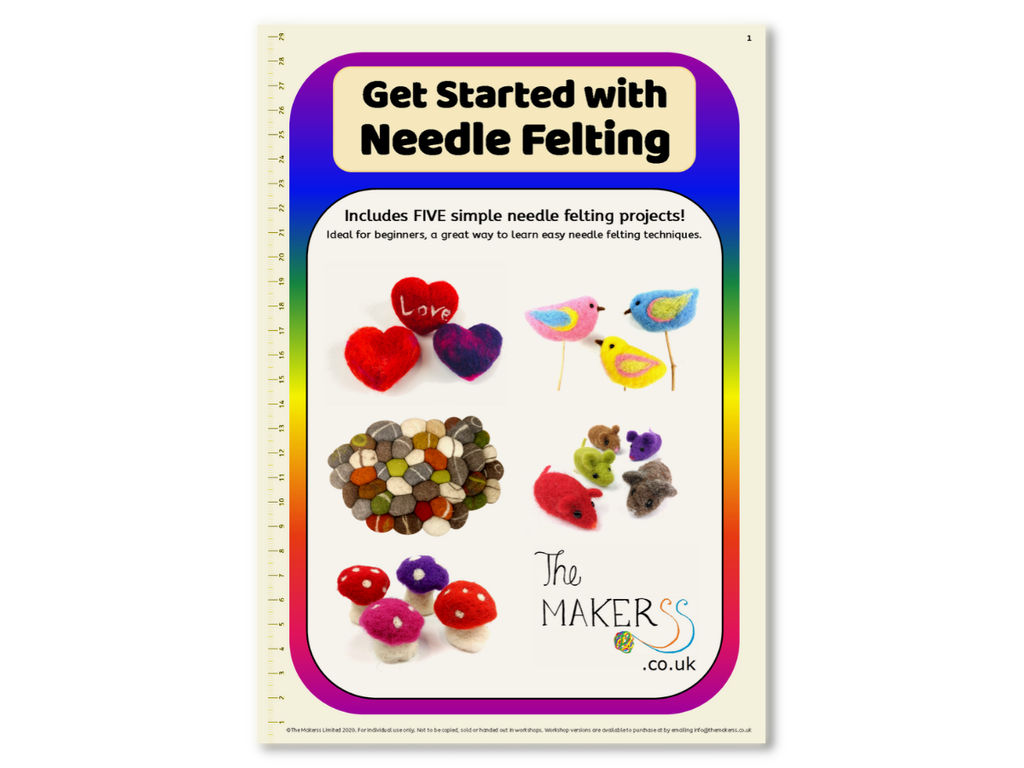 'Get Started with Needle Felting' Booklet - 5 sets of instructions