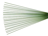 Green Wire Stems x 25 -  #18, 36cm long