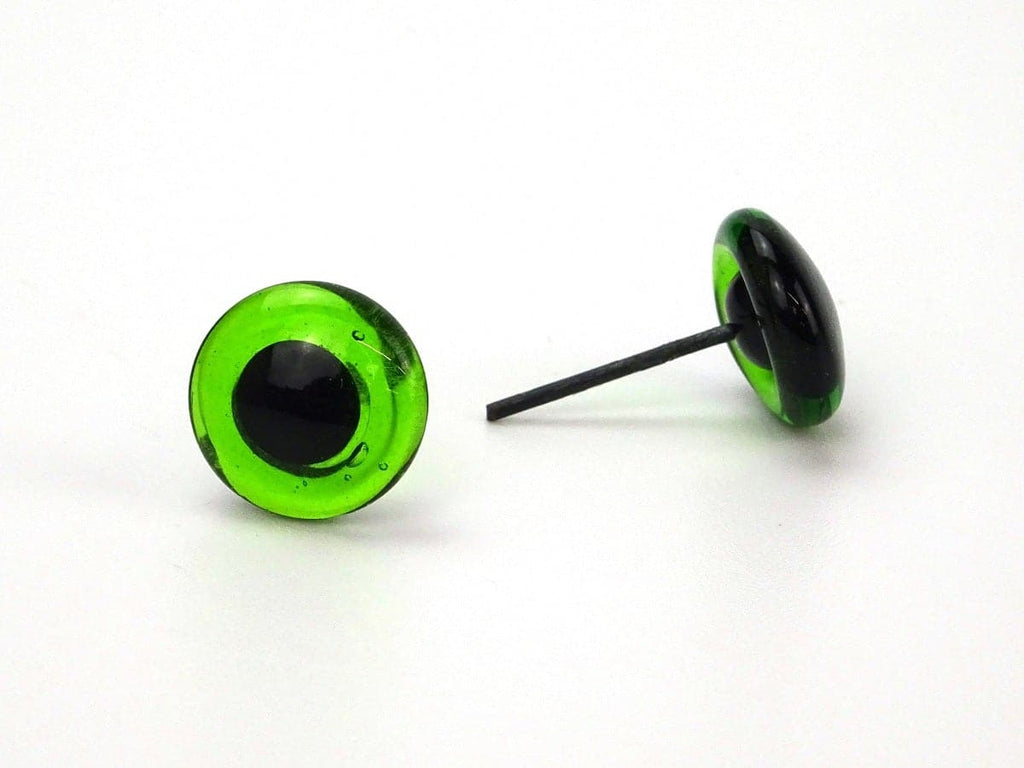 Green Easy glue-in glass eyes - 3, 4, 5, 6, 8, 10 mm - various options