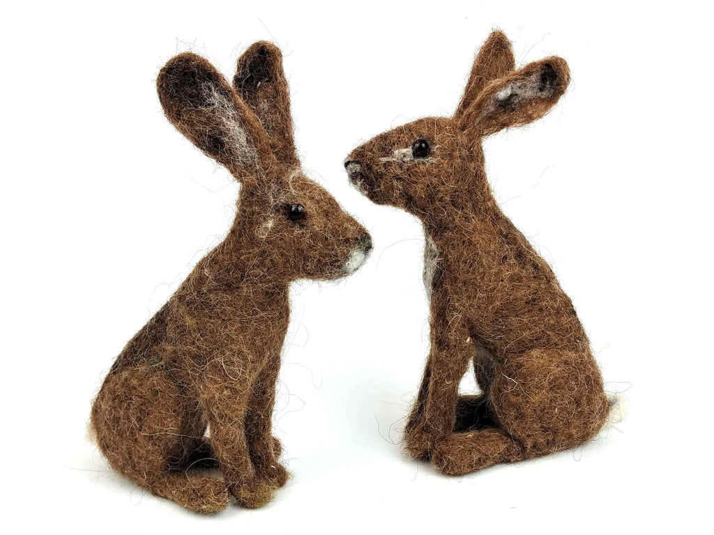 Hare Needle Felt Kit - makes 2 hares