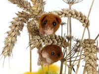 Harvest Mouse Needle Felt Kit - make 2 cute harvest mice
