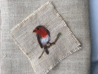 Large piece 70x45cm 12oz hessian for needle felt pictures, motifs, bunting