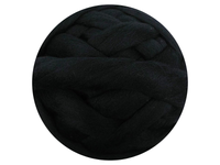 Jet Black Tops - dyed South American Merino - various weights