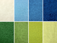 Landscape Mix - Blue & Green - wool batts 80g