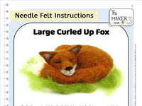Large Curled Up Fox Instructions PDF