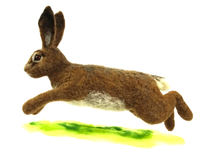 Large Wire Hare Needle Felt PACK (no tools!) - makes 1 large leaping hare