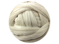 Light Grey Australian Merino Natural Tops - various weights