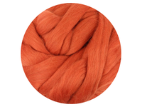 Orange Tops - dyed South American Merino - various weights