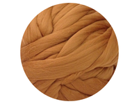 Medium Brown Tops - dyed, fine Australian Merino tops