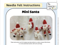 Mini Santa Instructions PDF