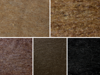 Mocha Mix - dark browns natural wool batts 120g