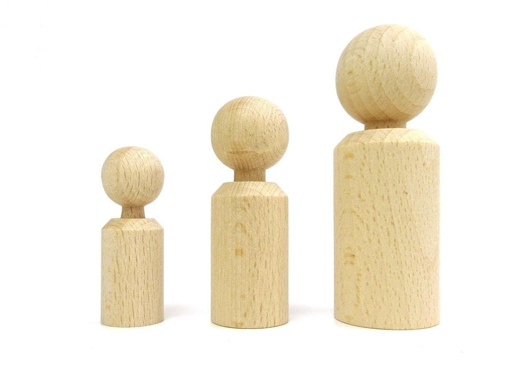 Wooden Doll CYLINDER SHAPE