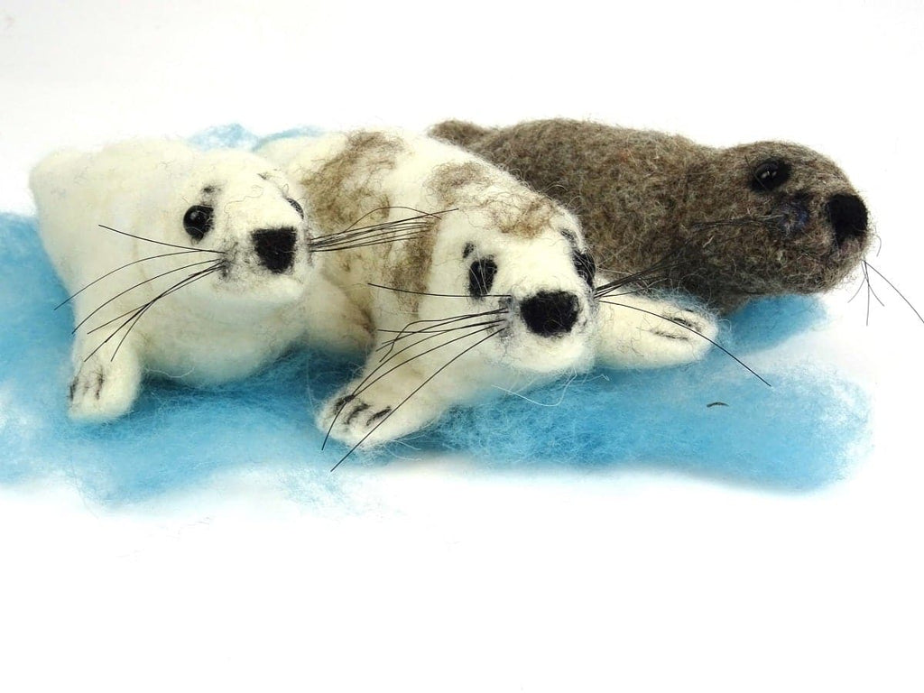 Seal Needle Felt Kit - makes 3 different coloured seals