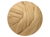 Pale Brown, dyed, fine Australian Merino tops