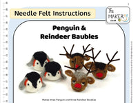 Penguin & Reindeer Bauble Instructions PDF