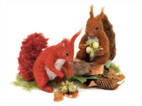 Red Squirrel Needle Felt Kit - makes 2 poseable red squirrels
