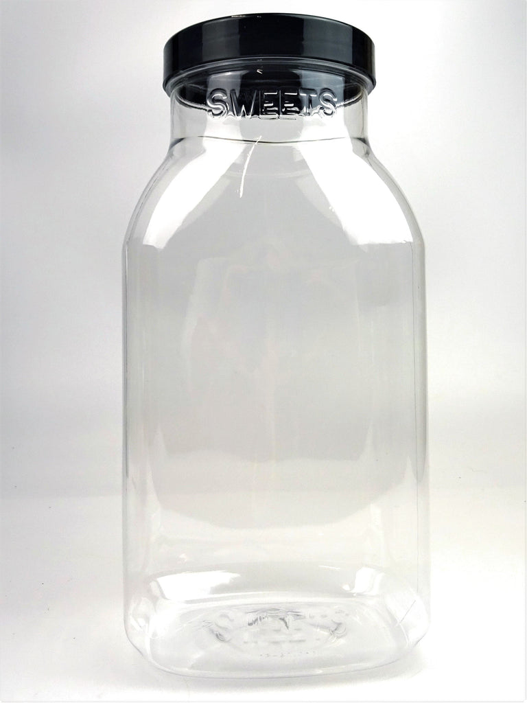 Clear Plastic Sweetie Jar - Empty