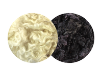Teeswater Curls - creamy white or black 12g